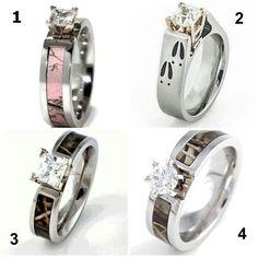number 2, pink camo, camo ring, camp wedding, camo wedding