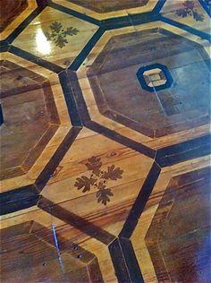 paint floor, oak leav, painted floors