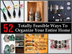 More than 50 ways to organize and tidy up your home in no time