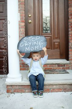 Back to School / First Day of School Photo Ideas - Chalkboard Sign