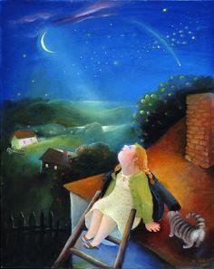 Looking to Night Sky  Natasha Villon