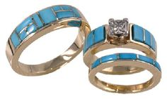Western Wedding Rings Sets