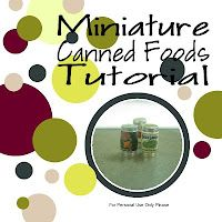 miniature canned food tutorial