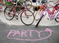 chalk parti, parti sign, sidewalks, sidewalk chalk, gardens, garden parties, parti detail