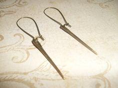 SteamPunk Sewing Needle Earrings @Aqsa Malik $16 #looksgoodonya