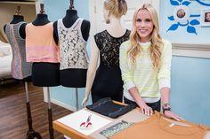 @lilyshop DIYs Lace Shirts for Summer! #lace #shirts #summer #homeandfamily #homeandfamilytv #DIY #fashion