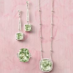 A lush & luxe look. >>Click on the Green Amethyst Jewelry for more styles at Ross-Simons.