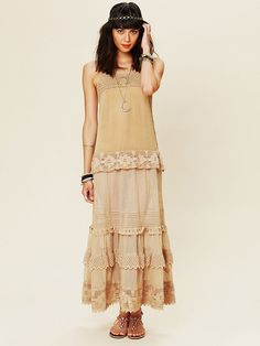 Free People Tiered Lace Candy Dress at Free People Clothing Boutique