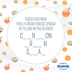 Say hello to our new spread: PHILADELPHIA Cinnamon Brown Sugar Cream Cheese! Enjoy it spread over a pumpkin muffin, or perhaps on a cinnamon sugar cookie.
