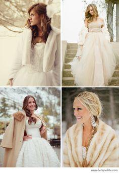 #winter #wedding #bridal #attire