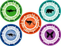 Falcon Creature Power Disc | Print on cardstock, punch with 3.5 inch hole punch or cut out with ...