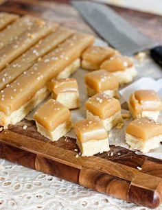 A Free Recipe: Salted Carmel Shortbread Bites