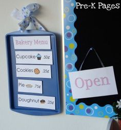 DIY Magnetic Sign via www.pre-kpages.com