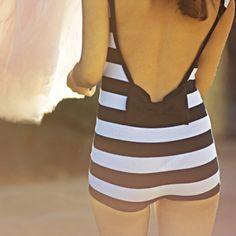 vintage swimsuits, retro swimwear, black white, swimming suits, bow, romper, stripe, vintage style, vintage bathing suits