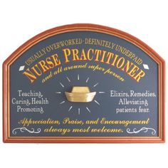 Nurse Practitioner Wood Sign
