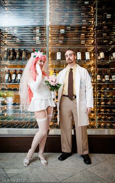 Krieger from Archer with Wifu. Wifu is a character who can not be cosplayed unexploitatively- because the character herself is a commentary on exploitation.