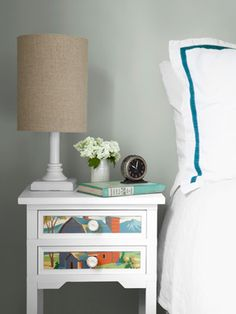 Cute paint-by-numbers side table!