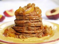 Peach Cobbler Pancakes_S (almond,coconut,flax)