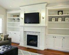 living rooms, fireplaces, fireplace design, family rooms, fireplace built ins, tvs, shelv, live room, salt lake city