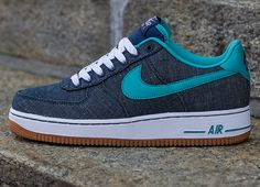 Nike Air Force 1 Low Canvas Squadron Blue Sport Turquoise.