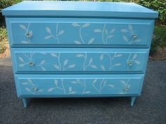 Great stencilled dresser from Elizabeth and co.