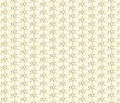 Coffee - Caffeine Molecule fabric by studiofibonacci on Spoonflower - custom fabric