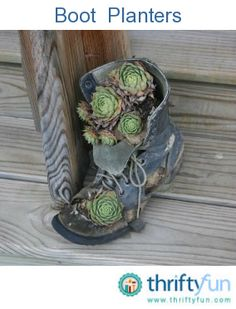 Making Shoe and Boot Planters