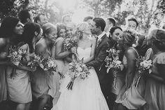 Wedding photo; bride, groom.