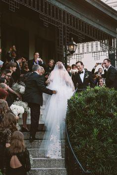 A romantic stair-top wedding ceremony | via: style me pretty