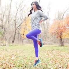 Perfect Purple Pants! 'Go Long Legging' from Albion