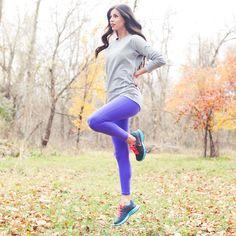 Go long Legging, Purple
