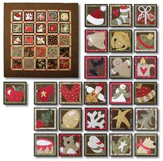 How Many Days? Christmas quilt.  Wall quilt with removable advent squares at Sam Sarah Designs
