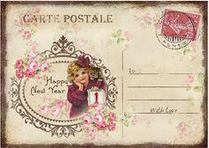 JanetK.Design Free digital vintage stuff: Happy New Year Cards/Tags deel 2