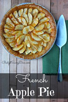 3 Words - Apricot Rum Glaze . Rustic but so incredible. This impressive dessert so easy to make! French Apple Pie Recipe