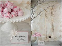 pink tea cakes