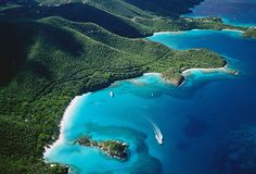 The dazzling white sand and clear waters of St John's, Antigua!