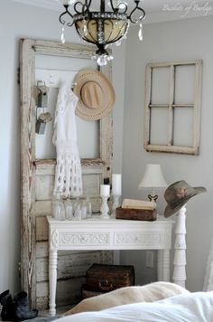 rustic bedroom decorating ideas....OMG this is so simple, but gorgeous!