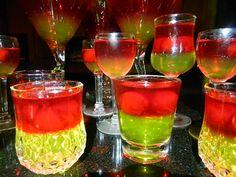 Sour Apple Jello Shots
