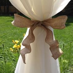 Easy burlap ribbon tie backs