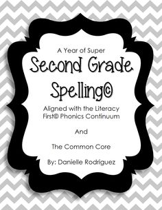 SUPER SECOND GRADE SPELLING! 43 spelling patterns in 26 units aligned to the Literacy First Phonics Continuum and The Common Core! 4 pages of supplementary activities for each unit as well as letter cards for hands-on learning. Decorative dividers for each phonics skill make this curriculum ready to go in a binder! A bonus Spelling Test printable is also included!