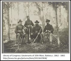 "A Civil War photo of Union lieutenants. Credit: Library of Congress. Read more on the GenealogyBank blog: ""Civil War Genealogy: How to Find Union Soldier Uniform Clues."" http://blog.genealogybank.com/civil-war-genealogy-how-to-find-union-soldier-uniform-clues.html"