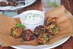 Herbed Zucchini and Feta Fritters   Girl Cooks World