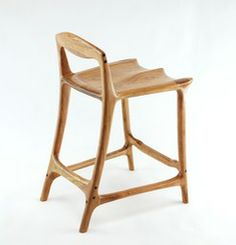 Check out Paul Lemiski's sculpted bar stools. He blogs about the craft at canadianwoodworks.com
