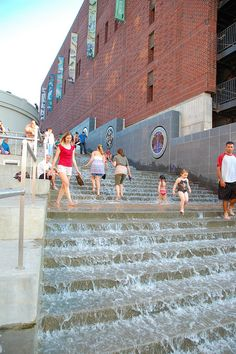 The Passage - Chattanooga, Tennessee.The Passage in downtown Chattanooga, Tennessee. The fountain connects the downtown area with the Tennessee River at Ross' Landing, and signifies the Cherokee Nation's tears during their forced march from the area. Ross' Landing is located at the start of the Trail of Tears.