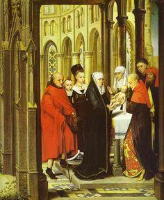 Presentación del niño en el templo.Hans Memling. José Armando Flores Vázquez