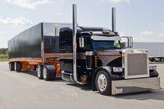 car, big truck, cleanses, pete 379, big rig, art, black eagl, peterbilt 379, 2007 pete