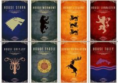 Game of Thrones symbols of houses flags Poster by SummitPosters