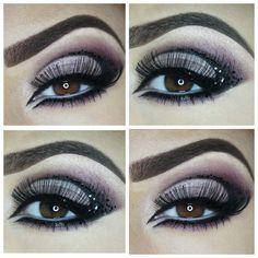 Black glitter cut crease  By: @ pictureperfectbydina