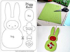 Bunny craft pattern