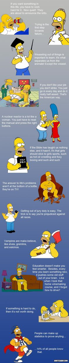 Homer Simpson Quotes...     =)